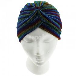 Jersey Turban Hat - Glitter Rainbow