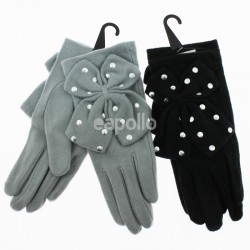 Ladies Fashion Gloves w/ Silver Studs - Assorted Colours
