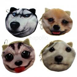 Ladies' Round Dog Design Purses - Assorted Designs