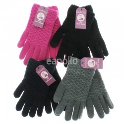 Ladies' Knitted Touch Screen Gloves - Assorted Colours