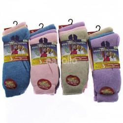 Ladies' Warm Winter Thermal Socks - Pastel Assortment