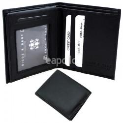 Men's RFID Leather Wallet 10 Card Slots - Black