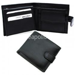 Men's RFID Leather Wallet 7 Card Slots - Black