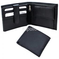 Men's RFID Leather Wallet 8 Card Slots - Black
