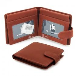 Men's Primehide Leather Wallet - Cognac Alva
