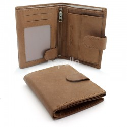 Mens Leather with 8 Card Slots - Tan
