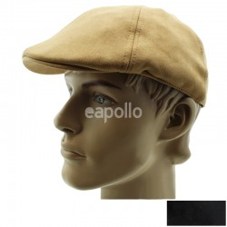 Mens Moleskin Suede Look Flat Caps - Assorted Colours & Sizes