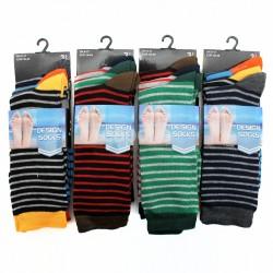 Mens Striped Fashion Socks - Assorted Colours