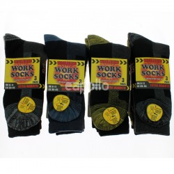 Mens Wool Blend Work Socks - Assorted Colours