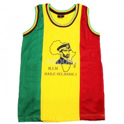 Mesh Top Vest H.I.M Haile Selassie Print