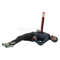 Zombie Staked Pen Holder Figurine