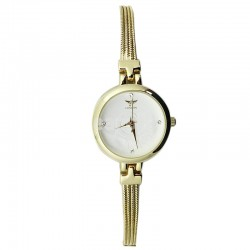 NY London Ladies Round Dial Bracelet Metal Strap Watch - Gold