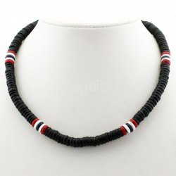 Rasta Themed Necklace - Trinidad & Tobago Coloured Beads
