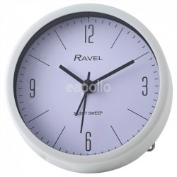 Wholesale Ravel Quartz Plastic Round Alarm Clock - White