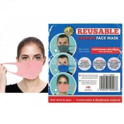 Wholesale Reusable Stretchable Spandex Face Mask - Assorted Colours