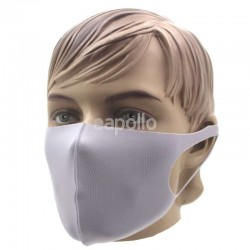 Reusable Stretchable Face Covering Mask- Light Grey