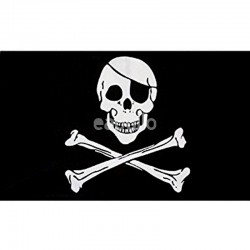Skull & Crossbones Flag - 5ft x 3ft
