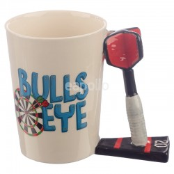 Wholesale Dart Shaped Handle Ceramic Mug