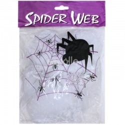 Stretchable Spider Web - White