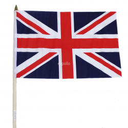 "Union Jack Hand Flag - 18"" x 11"""