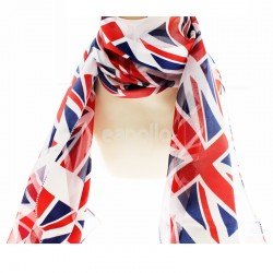 Ladies Union Jack Print Scarf