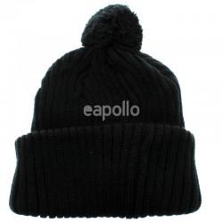 Unisex Pom Pom Hat - Black