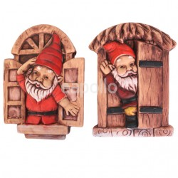 Waving Door Waving Gnome Set - 18cm