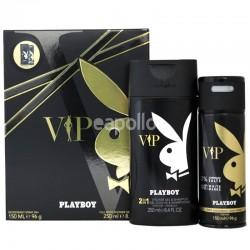 Wholesale Mens Playboy VIP Perfume Gift Set - Deodorant Spray & Shower Gel