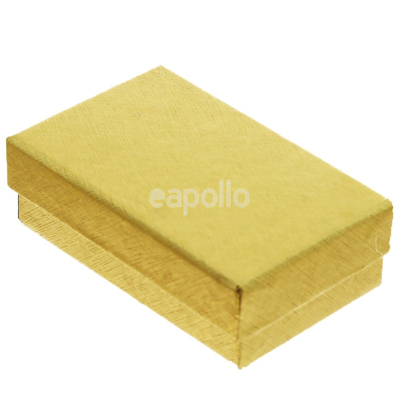 Rectangle Gift Box Metallic Gold Small 5x 8x 2 5cm