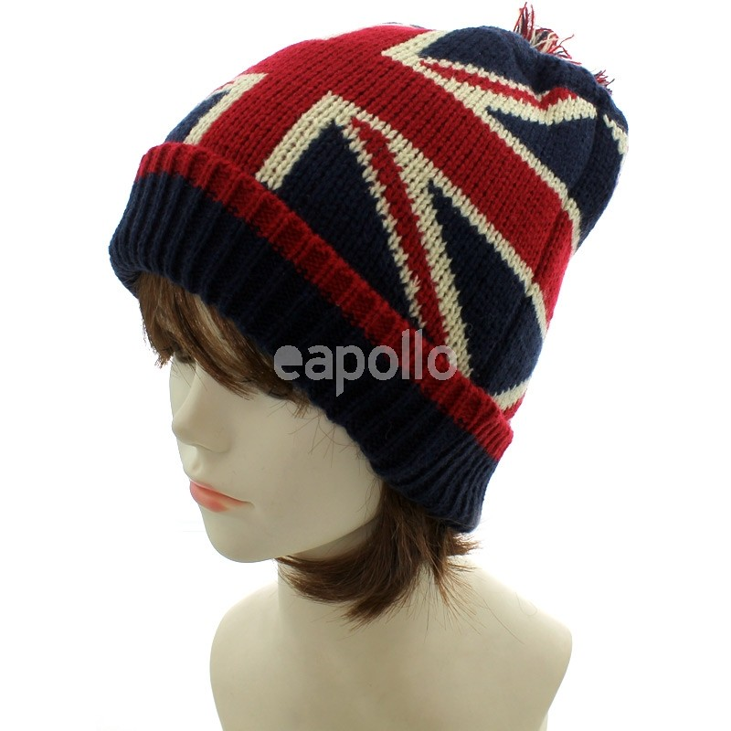 5f8f9f4a4ca More Views. Union Jack Knitted Winter Hat ...