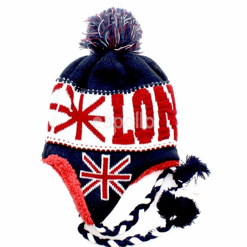 1f688071743 More Views. London Union Jack Winter Peruvian Hat  London Union Jack Winter  Peruvian Hat ...