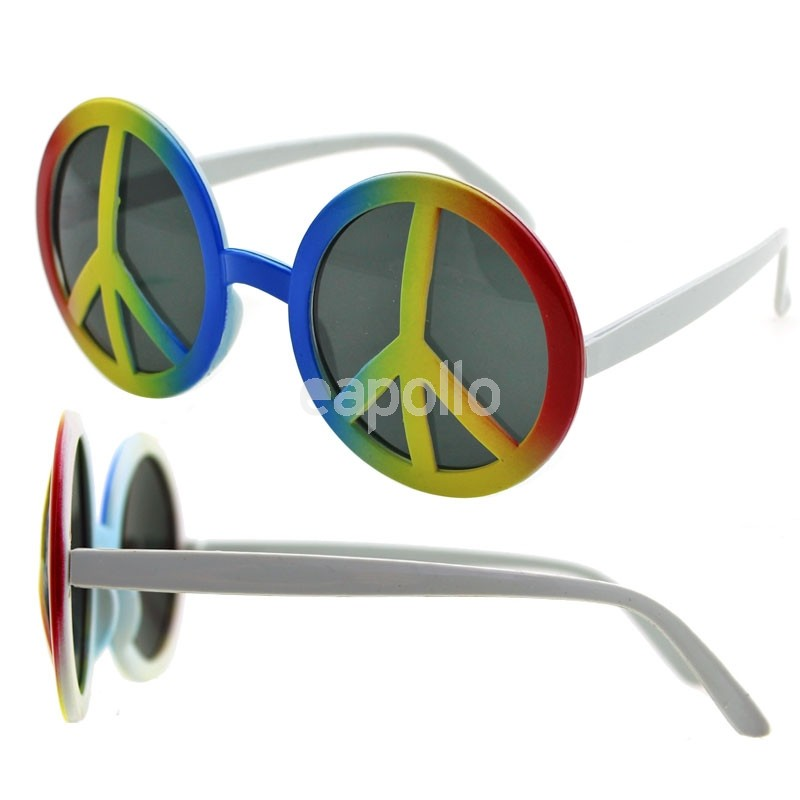 6a0fb712806 Wholesale Unisex Rainbow Peace Sign Sunglasses
