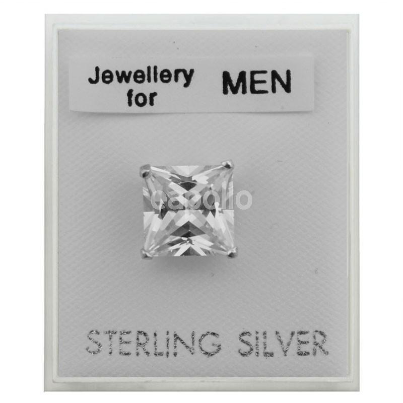 561a5d308 Men's Sterling Silver Square Stud - 8mm | UK wholesaler, supplier ...