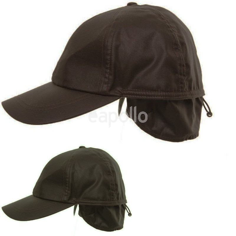 wax coated baseball cap barbour hat adjustable ear flaps assorted buy waterproof waxed cotton
