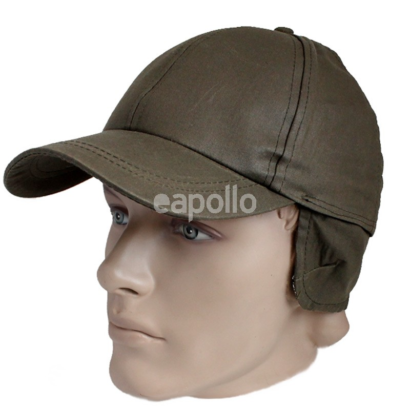 wax coated baseball cap adjustable ear flaps assorted waterproof waxed cotton barbour