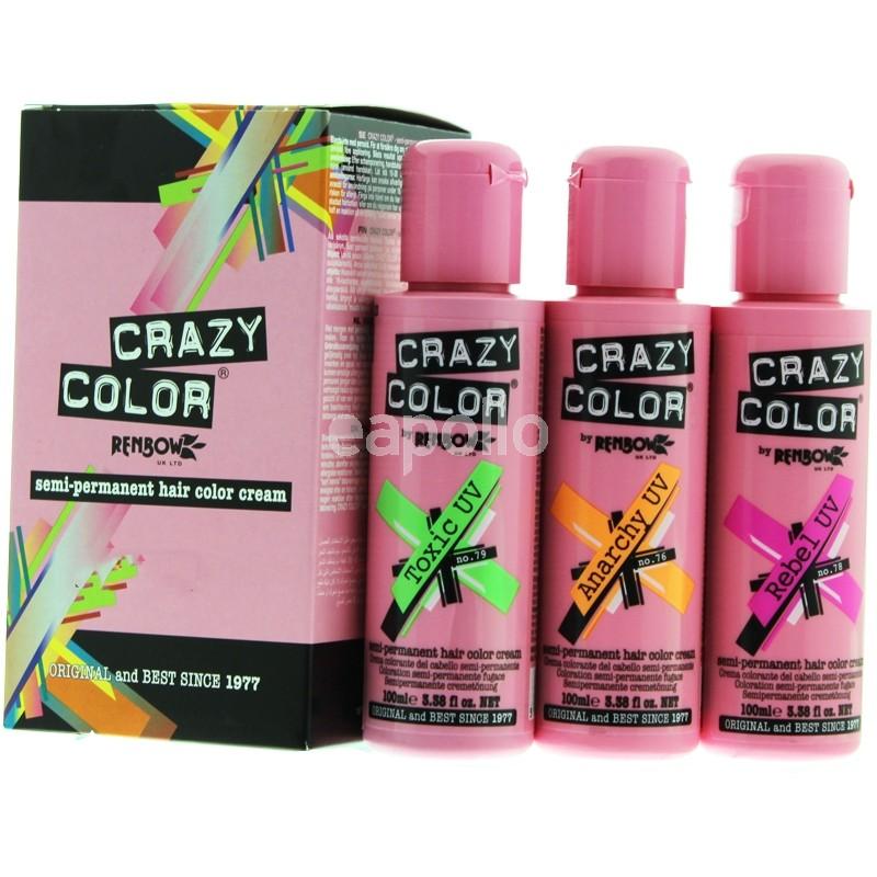 Crazy Color Semi Permanent Hair Color Caution Uv Uk Wholesaler
