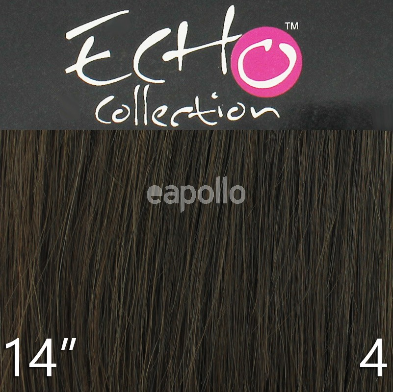 Echo 14 Long Clip In Human Hair Extensions Colour No 4 Uk