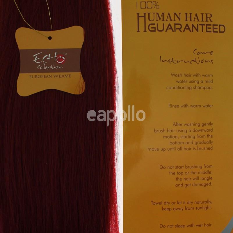 Echo 14 Long Human Hair Weave Extensions Colour No 39j Uk