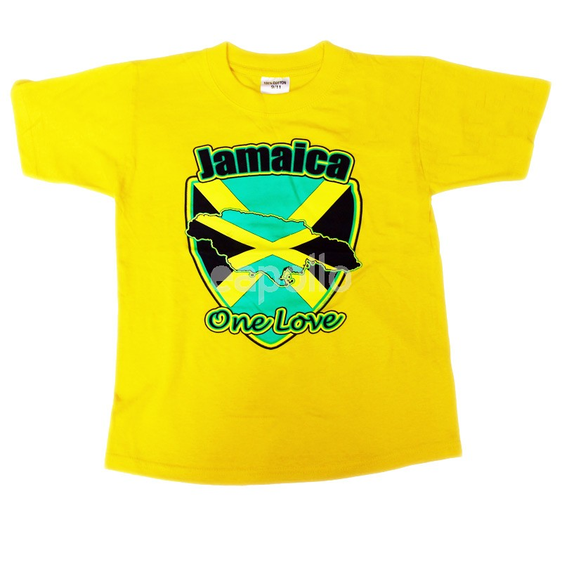 Jamaica One Love Yellow T-Shirt | UK wholesaler & supplier ...