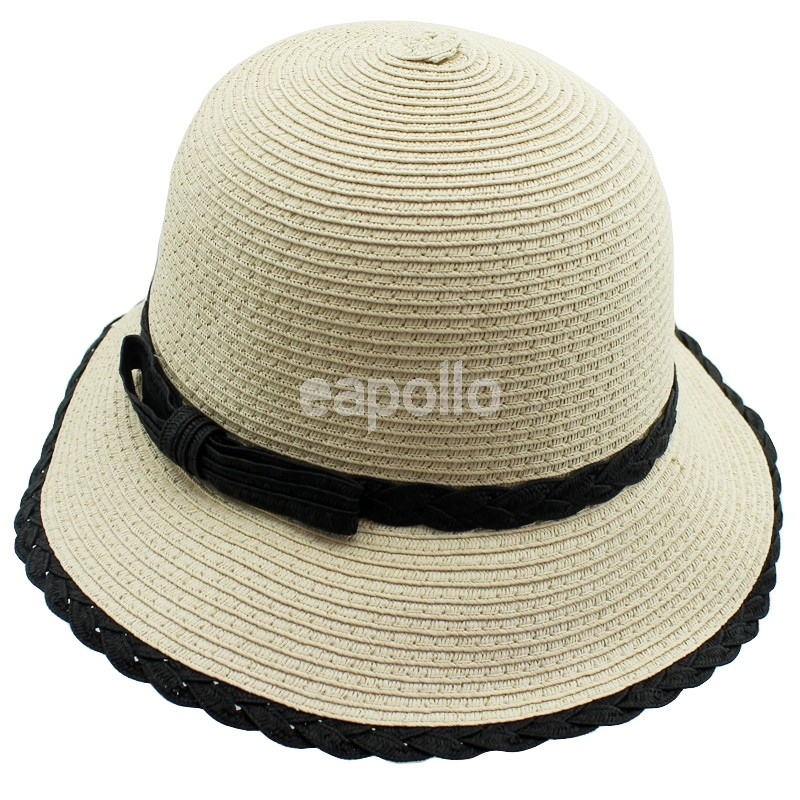 9a007adb Ladies Straw Hat With Black Trim   UK wholesaler, supplier and Cash & Carry