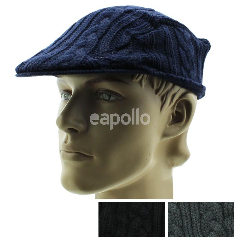 Wholesale Mens Cable Knitt Flat Cap - Assorted Colours  dbf637e90c7
