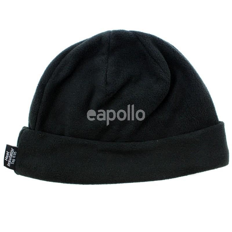 Wholesale Mens Fleece Insulated Beanie Hats - Black  dec634fa294