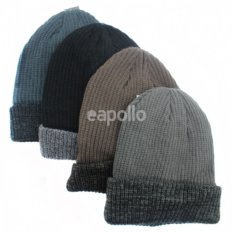 Mens Rockjock Thinsulated Two Tone Beanie Hats - Assorted Colours ... d412630d1828