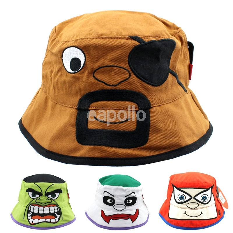 7b810c481af Novelty Bucket Hat With Animated Faces - Assorted Designs
