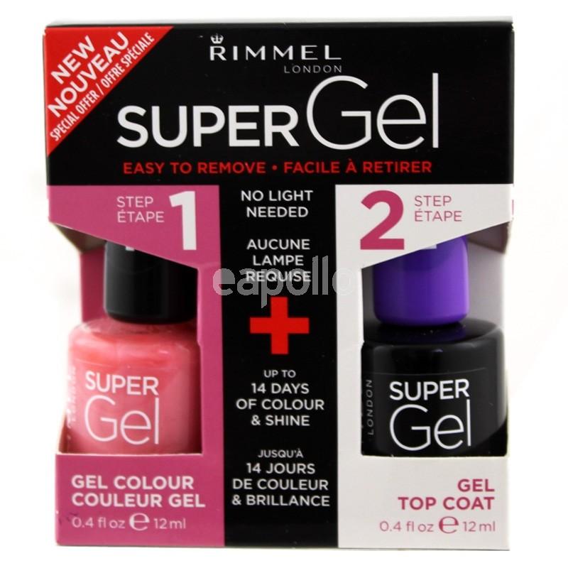 Wholesale Rimmel London Super Gel Nail Polish Duo Pack - Top Coat ...