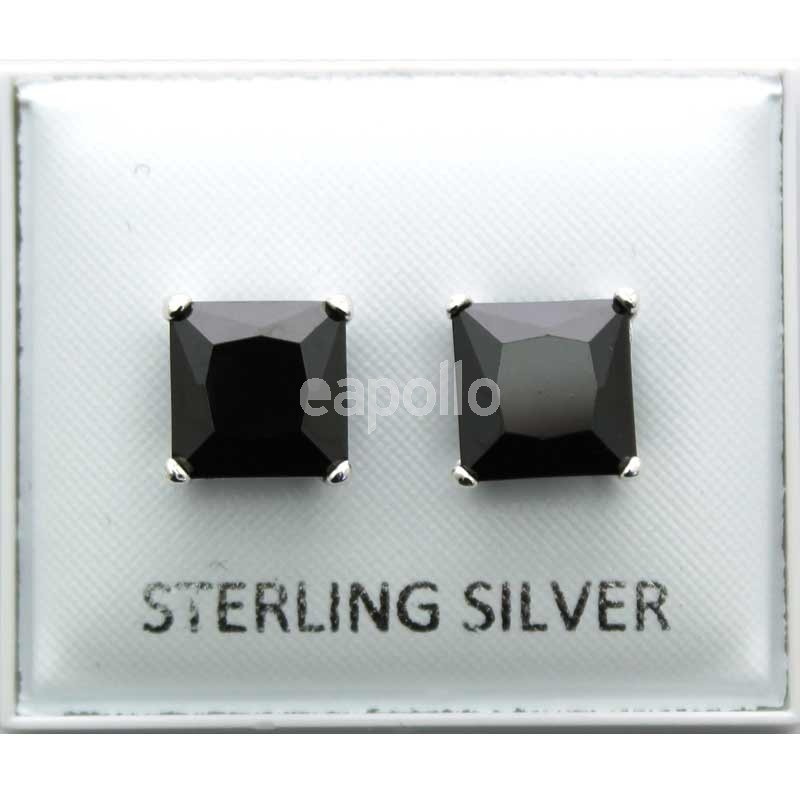 ae14b2ffa Wholesale Sterling Silver Black Square Studs - 8mm | UK wholesaler,  supplier and Cash & Carry