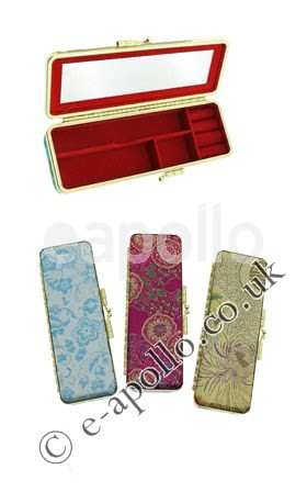Travel Jewellery Boxes Assorted Colours Jb11311 Pack Of 6