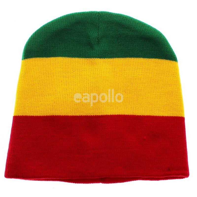 4ecf6594866ba Wholesale Unisex Knitted Rasta Beanie Hat