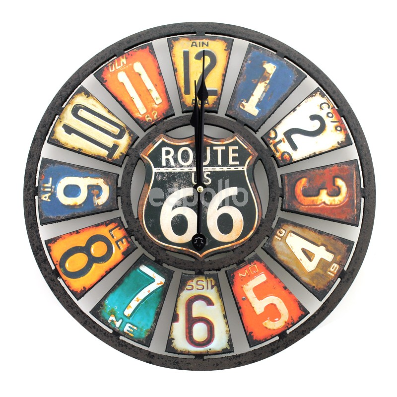 Route 66 Wall Clock 40cm Uk Wholesaler And Supplier