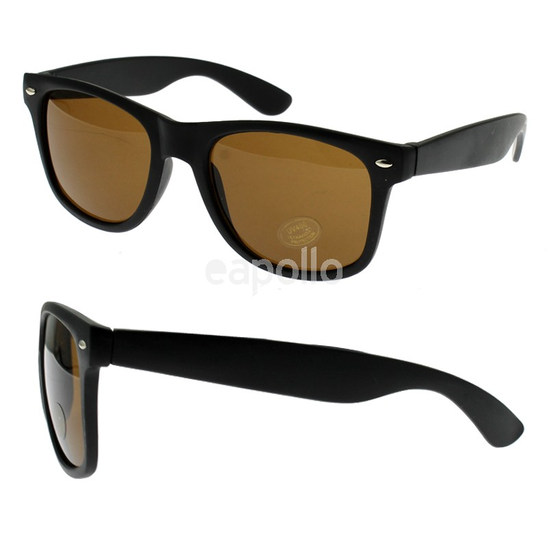 95dd72910 Unisex Wayfarer Sunglasses With Brown Lens (Black Frame)   UK ...